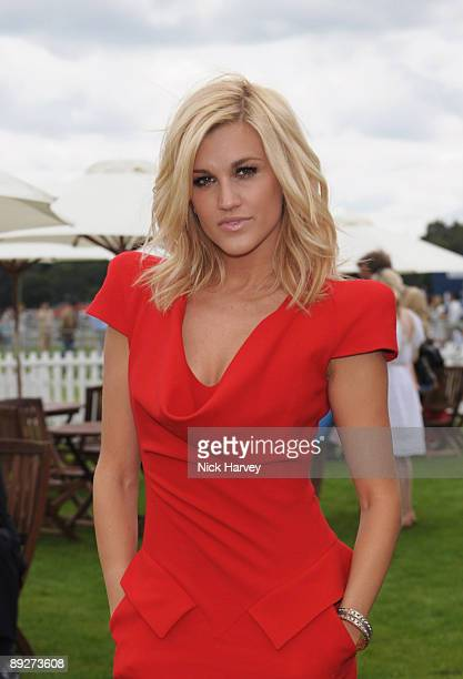 Ashley Roberts at the Cartier tent during the Cartier Internaional Polo Day at Guards Polo Club on July 26 2009 in Egham England
