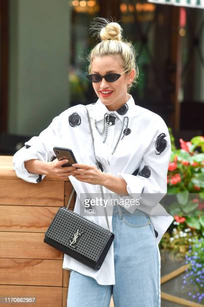 Ashley Roberts at the Global Radio Studios on August 28 2019 in London England