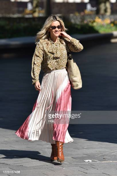 Ashley Roberts at the Global Radio Studios on May 06, 2020 in London, England.