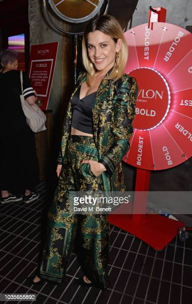 Victoria Brown attends the Adwoa Aboah X Revlon 'Live Boldly' party during London Fashion Week September 2018 on September 18 2018 in London United...