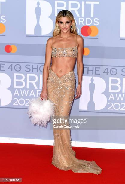 Ashley Roberts attends The BRIT Awards 2020 at The O2 Arena on February 18 2020 in London England