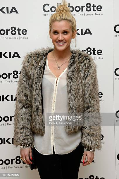 Ashley Roberts attends the premiere of Rankin's Collabor8te connected by NOKIA at Regent Street Cinema on February 12 2013 in London England