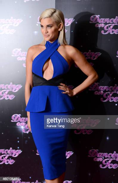 Ashley Roberts attends the series launch photocall for 'Dancing on Ice' held at the London Studios on January 2 2014 in London England