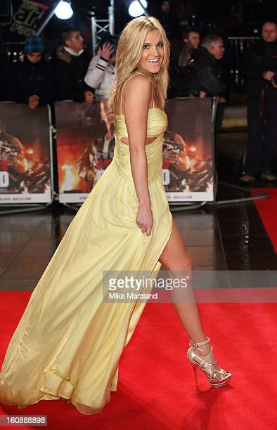 Ashley Roberts attends the UK Premiere of 'A Good Day To Die Hard' at Empire Leicester Square on February 7 2013 in London England