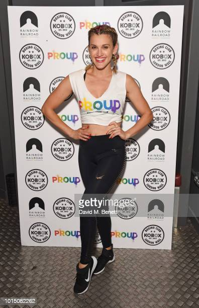Ashley Roberts hosts a special charity KOBOX class with Doug Fordyce in aid of Proud partner Rainbow Railroad at KOBOX City on August 11 2018 in...