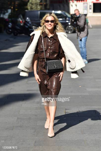 Ashley Roberts is seen outside the Global Radio Studios on April 21, 2020 in Londosn, England.