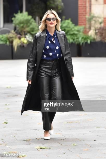 Ashley Roberts is seen outside the Global Radio Studios on May 11 2020 in London England