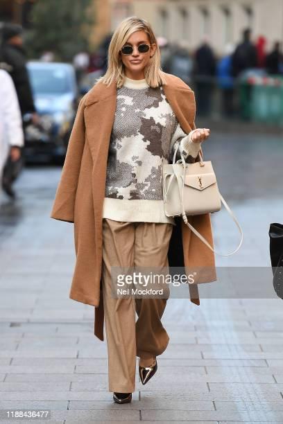 Ashley Roberts leaving Heart Breakfast studios on November 18 2019 in London England