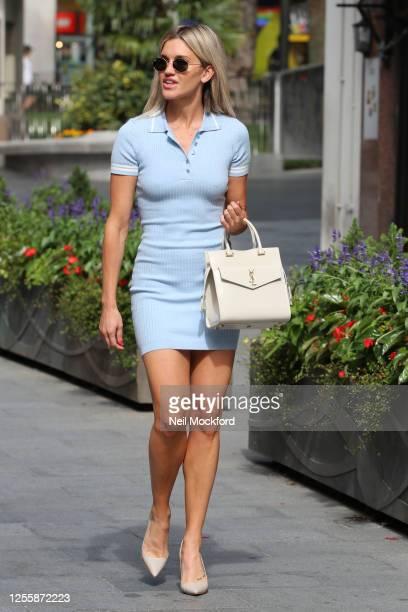 Ashley Roberts leaving Heart Radio Studios on July 13, 2020 in London, England.