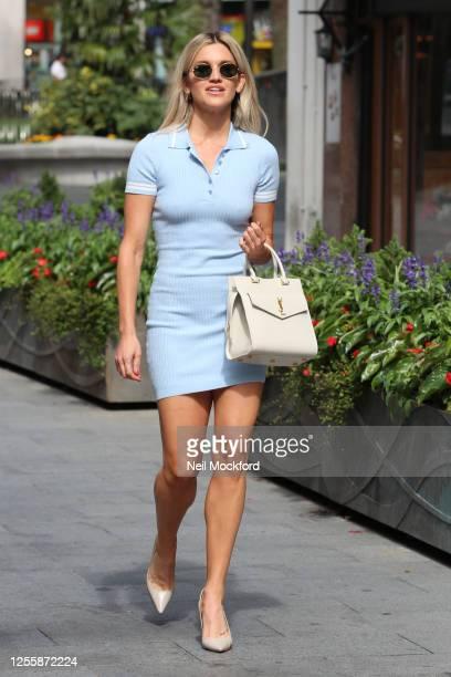 Ashley Roberts leaving Heart Radio Studios on July 13 2020 in London England