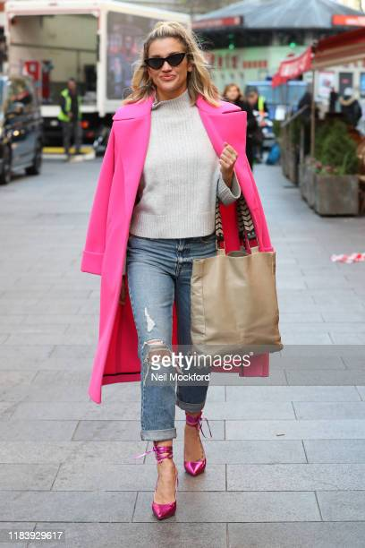 Ashley Roberts leaving Heart Radio Studios on October 28 2019 in London England