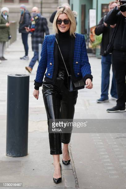 Ashley Roberts pictured leaving Global Radio Studios on December 8, 2020 in London, England.
