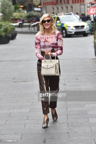 Ashley Roberts seen at Global Radio on September 16, 2019 in London, England.