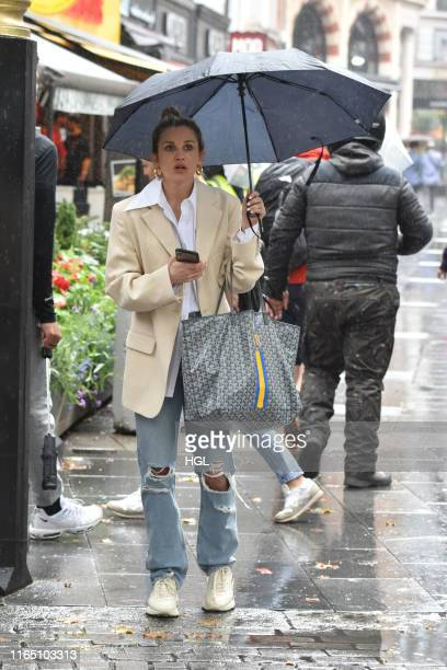 Ashley Roberts seen at Global Radio sighting on July 30 2019 in London England