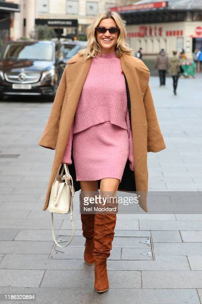 Ashley Roberts seen at Global Radio Studios on November 08 2019 in London England