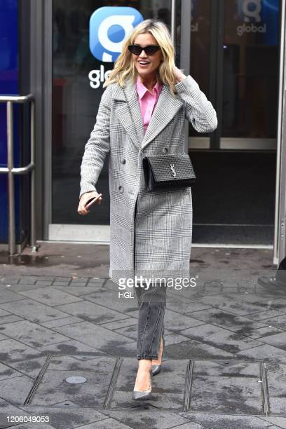 Ashley Roberts seen at Heart Radio on February 13, 2020 in London, England.