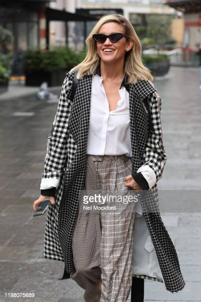 Ashley Roberts seen at the Heart Breakfast Radio Studios on January 07, 2020 in London, England.