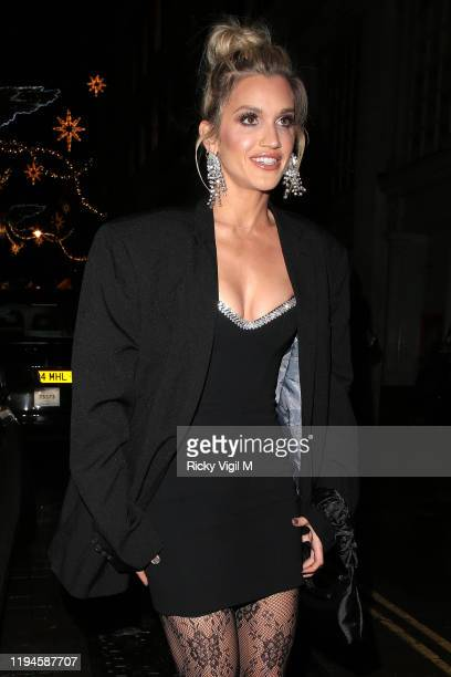 Ashley Roberts seen attending Tramp's Christmas Party in celebration of their 50th Anniversary on December 17 2019 in London England