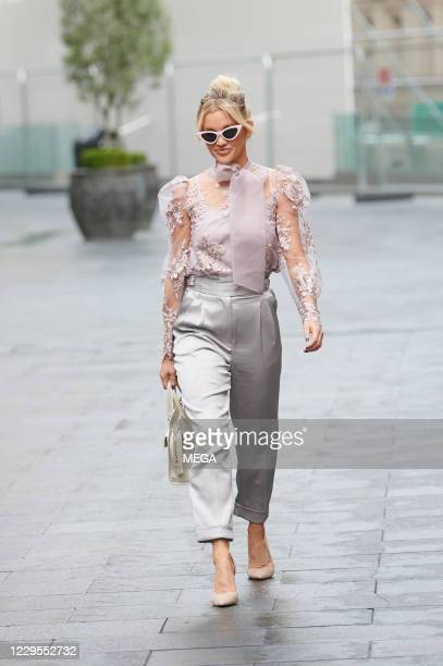 Ashley Roberts seen leaving Global Radio Leicester on November 9, 2020 in London, England.