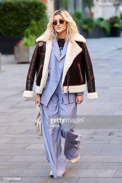 Ashley Roberts seen leaving Global radio on November 4, 2020 in London, England.