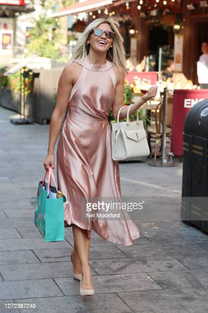 Ashley Roberts seen leaving Heart Breakfast Radio Studios as she celebrates her 39th birthday on September 14 2020 in London England