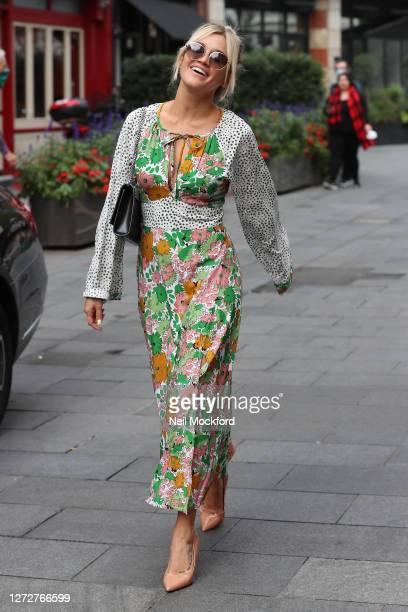 Ashley Roberts seen leaving Heart Breakfast Radio Studios as she celebrates her 39th birthday on September 16 2020 in London England
