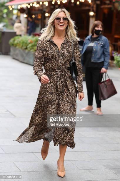 Ashley Roberts seen leaving Heart Breakfast Radio Studios on September 04 2020 in London England