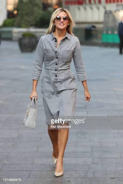 Ashley Roberts seen leaving Heart Breakfast Radio Studios on September 22, 2020 in London, England.