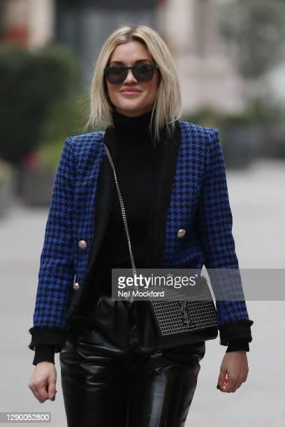 Ashley Roberts seen leaving Heart Breakfast Radio Studios on December 08, 2020 in London, England.