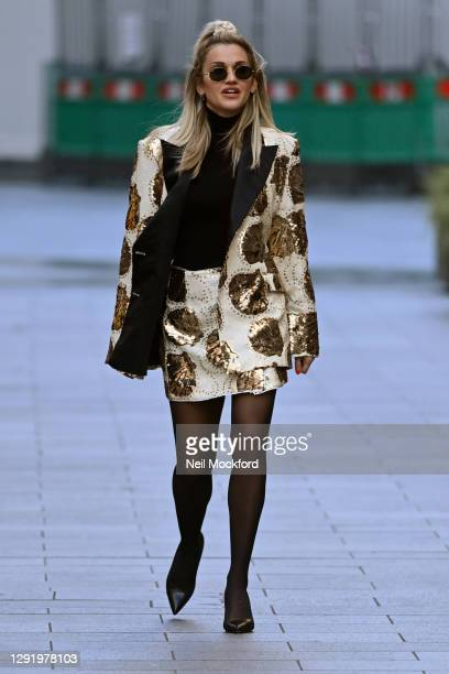 Ashley Roberts seen leaving Heart Breakfast Radio Studios on December 18, 2020 in London, England.