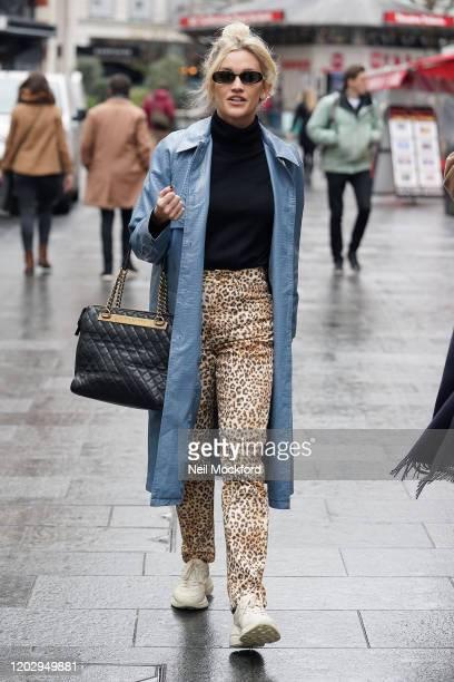 Ashley Roberts seen leaving Heart Breakfast Radio Studios on January 30 2020 in London England