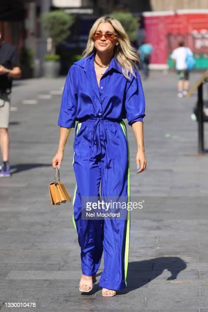 Ashley Roberts seen leaving Heart Breakfast Radio Studios on July 22, 2021 in London, England.