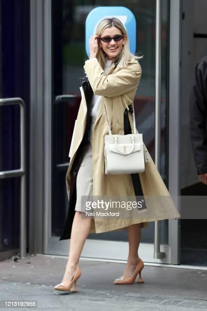 Ashley Roberts seen leaving Heart Breakfast Radio Studios on March 18, 2020 in London, England.