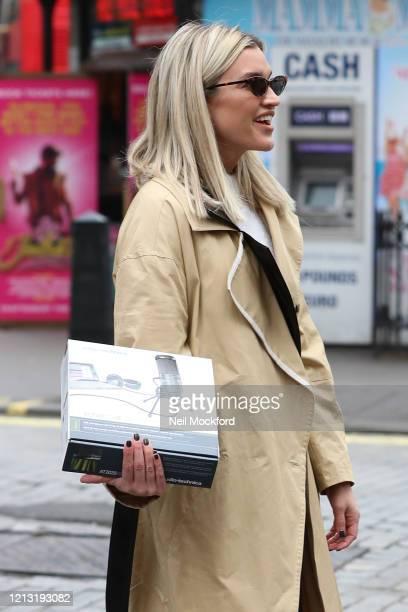 Ashley Roberts seen leaving Heart Breakfast Radio Studios on March 18 2020 in London England