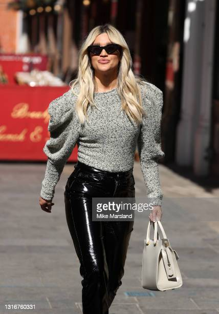 Ashley Roberts seen leaving Heart Breakfast Radio Studios on May 07, 2021 in London, England.