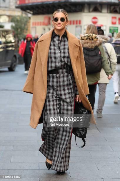 Ashley Roberts seen leaving Heart Breakfast Radio Studios on November 04, 2019 in London, England.