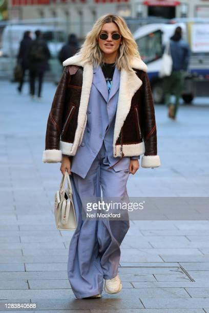 Ashley Roberts seen leaving Heart Breakfast Radio Studios on November 04 2020 in London England