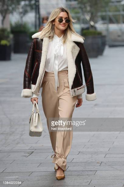 Ashley Roberts seen leaving Heart Breakfast Radio Studios on November 05, 2020 in London, England.