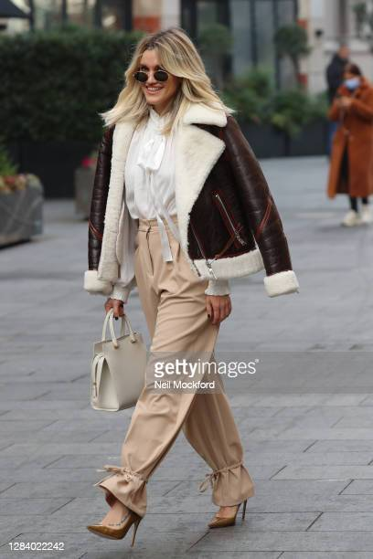 Ashley Roberts seen leaving Heart Breakfast Radio Studios on November 05 2020 in London England
