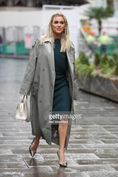 Ashley Roberts seen leaving Heart Breakfast Radio Studios on November 13, 2020 in London, England.