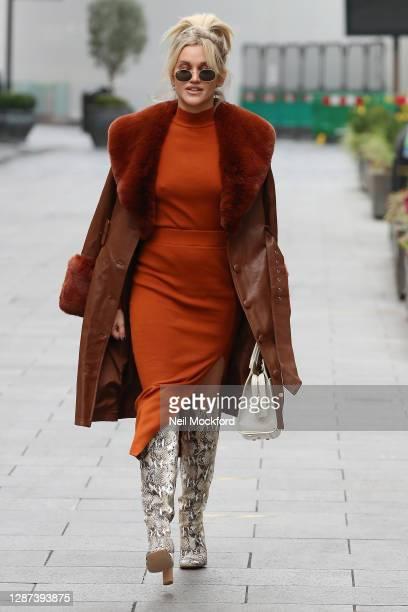 Ashley Roberts seen leaving Heart Breakfast Radio Studios on November 24 2020 in London England
