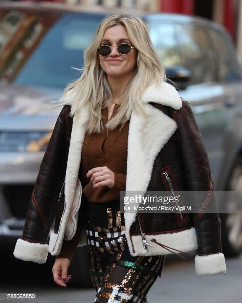 Ashley Roberts seen leaving Heart Breakfast Radio Studios on November 27 2020 in London England