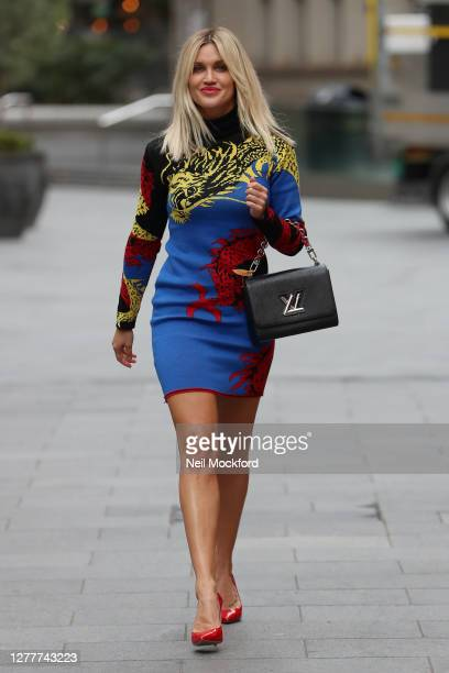 Ashley Roberts seen leaving Heart Breakfast Radio Studios on October 1 2020 in London England