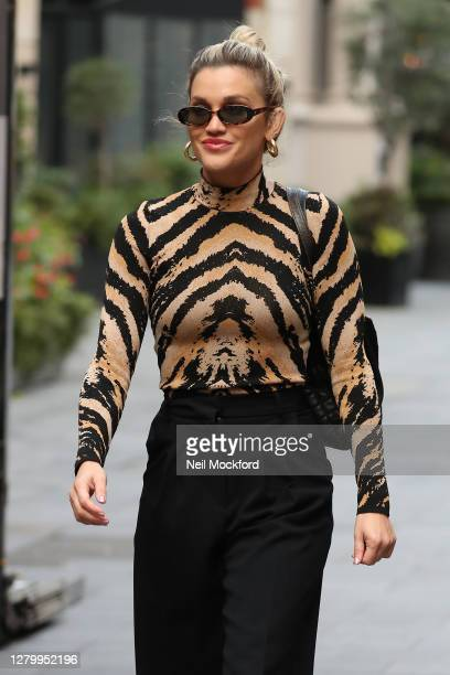 Ashley Roberts seen leaving Heart Breakfast Radio Studios on October 13 2020 in London England