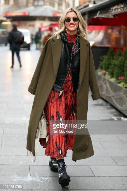 Ashley Roberts seen leaving Heart Radio Studios on December 16 2019 in London England