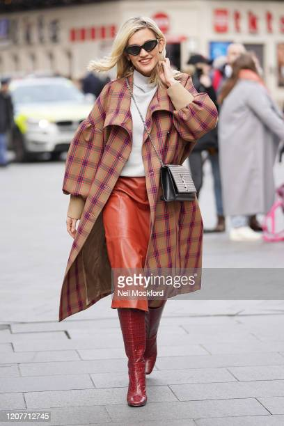 Ashley Roberts seen leaving Heart Radio Studios on February 21 2020 in London England