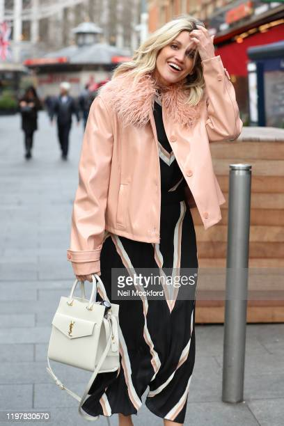 Ashley Roberts seen leaving Heart Radio Studios on January 06 2020 in London England