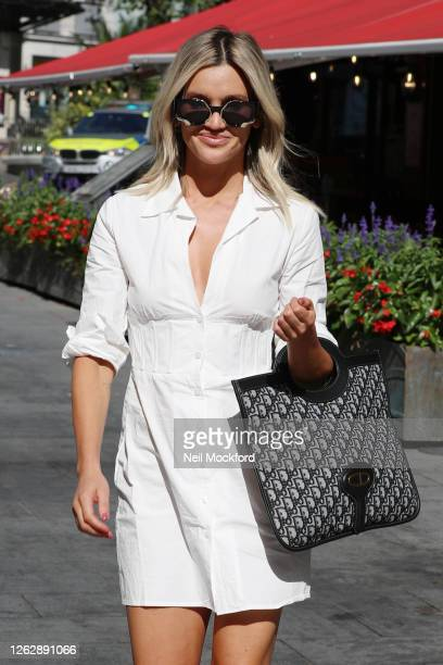 Ashley Roberts seen leaving Heart Radio Studios on July 31, 2020 in London, England.