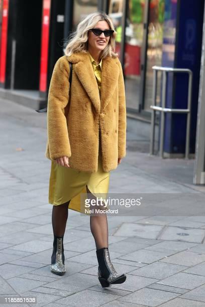 Ashley Roberts seen leaving Heart Radio Studios on November 06, 2019 in London, England.
