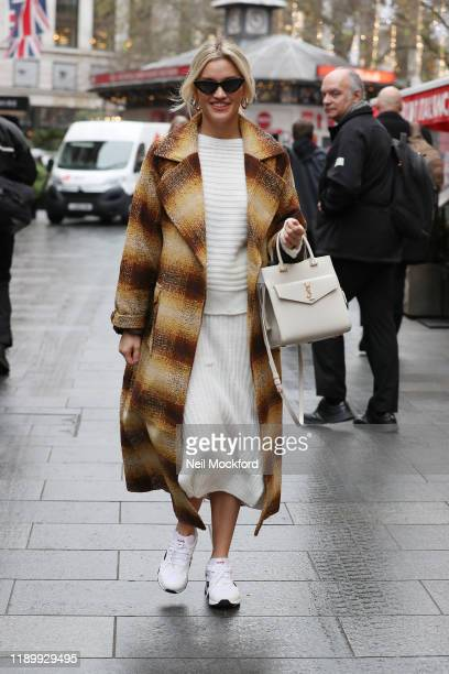 Ashley Roberts seen leaving Heart Radio Studios on November 25 2019 in London England